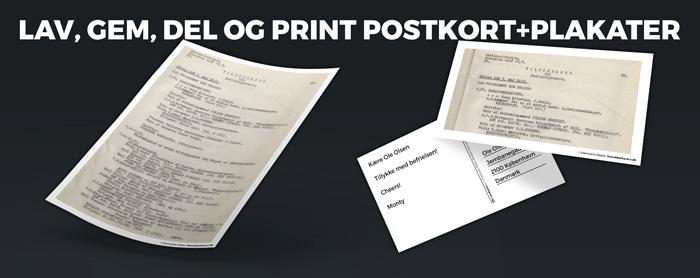 Plakat og postkort promoverings billede